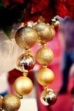 Ornamenti brillanti di natale Immagini Stock Libere da Diritti