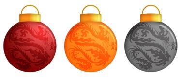 Ornamenti cinesi di natale del drago Immagini Stock