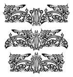 Ornamenti con i grifoni Immagini Stock