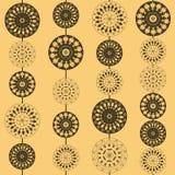 Ornamenti con il fiore ed il cerchio Fotografie Stock Libere da Diritti