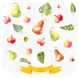 Ornamenti con le mele dipinte Fotografia Stock Libera da Diritti