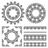 Ornamenti d'annata e strutture - insieme Illustrazione di Stock