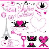 Ornamenti d'annata, elementi calligrafici di progettazione Immagini Stock