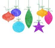 Ornamenti d'attaccatura capricciosi di Natale Fotografia Stock Libera da Diritti