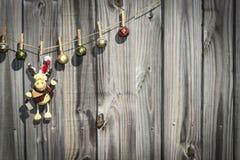 Ornamenti d'attaccatura di natale Fotografie Stock Libere da Diritti