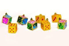 Ornamenti dei dadi di natale Fotografia Stock