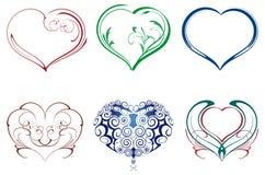 Ornamenti del cuore Fotografia Stock