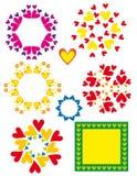 Ornamenti del cuore del biglietto di S. Valentino Immagini Stock
