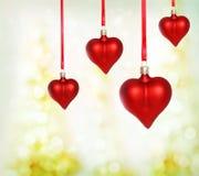 Ornamenti del cuore del biglietto di S. Valentino Fotografia Stock Libera da Diritti