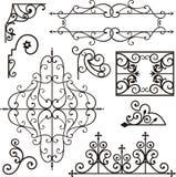 Ornamenti del ferro di Wrough Immagini Stock