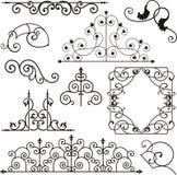 Ornamenti del ferro di Wrough illustrazione vettoriale