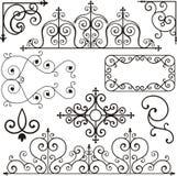 Ornamenti del ferro di Wrough illustrazione di stock