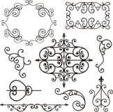Ornamenti del ferro di Wrough Fotografie Stock
