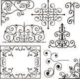 Ornamenti del ferro di Wrough Fotografie Stock Libere da Diritti