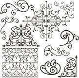 Ornamenti del ferro di Wrough Fotografia Stock