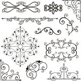 Ornamenti del ferro di Wrough Immagini Stock Libere da Diritti