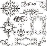Ornamenti del ferro di Wrough Fotografia Stock Libera da Diritti
