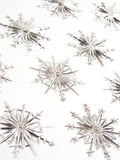 Ornamenti del fiocco di neve Fotografie Stock Libere da Diritti