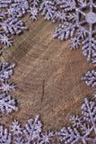 Ornamenti del fiocco di neve Immagine Stock