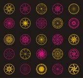 Ornamenti del fiore di vettore del cerchio Fotografie Stock