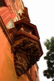 Ornamenti del mahdi di Sarjah al complesso del palazzo di maratha del thanjavur Fotografie Stock Libere da Diritti
