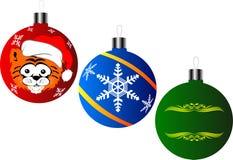 Ornamenti del nuovo anno Fotografia Stock
