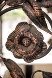 Ornamenti del recinto del ferro battuto Fotografia Stock Libera da Diritti