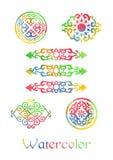 Ornamenti dell'acquerello Fotografia Stock Libera da Diritti