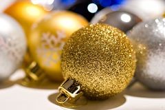 Ornamenti dell'albero Fotografie Stock