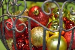 Ornamenti dell'albero di Natale Fotografie Stock