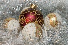 Ornamenti dell'albero di Natale Immagini Stock Libere da Diritti