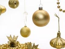 Ornamenti dell'oro di natale immagini stock libere da diritti