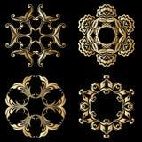 Ornamenti dell'oro di vettore Immagine Stock Libera da Diritti