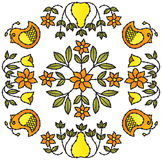 Ornamenti dell'uccello e del fiore Immagini Stock Libere da Diritti