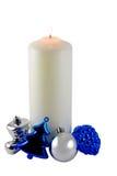 Ornamenti della candela di natale Fotografie Stock