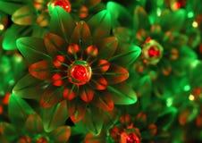 Ornamenti della luce rossa verde e - priorità bassa Fotografie Stock Libere da Diritti