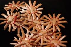 Ornamenti della paglia Fotografia Stock Libera da Diritti