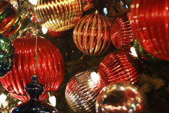 Ornamenti della palla dell'albero di Natale Fotografia Stock