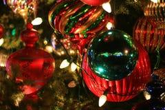 Ornamenti della palla dell'albero di Natale Fotografie Stock Libere da Diritti