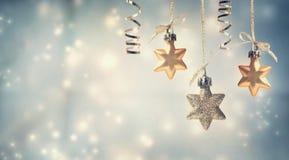 Ornamenti della stella di Natale fotografia stock