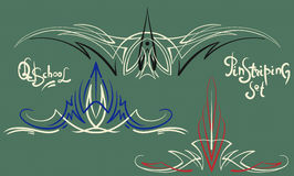 Ornamenti della striatura di Pin messi Immagini Stock Libere da Diritti