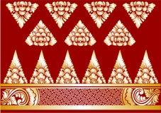 Ornamenti di balinese dell'oro di vettore Immagine Stock