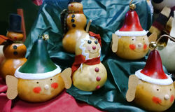 Ornamenti di legno Immagini Stock