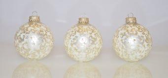 Ornamenti di natale Decorazioni di natale bianco immagine stock libera da diritti