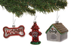 Ornamenti di natale del cane Fotografie Stock