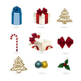 Ornamenti di natale impostati Immagine Stock