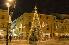 Ornamenti di Natale nella vecchia città Immagine Stock Libera da Diritti