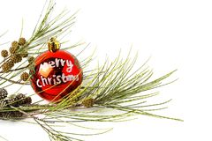 Ornamenti di natale sfere Giocattoli Il Babbo Natale; Candele; Regali; Immagine Stock Libera da Diritti