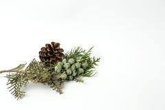 Ornamenti di natale sfere Giocattoli Il Babbo Natale; Candele; Regali; Fotografie Stock Libere da Diritti