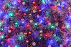 Ornamenti di natale sull'albero Fotografie Stock Libere da Diritti